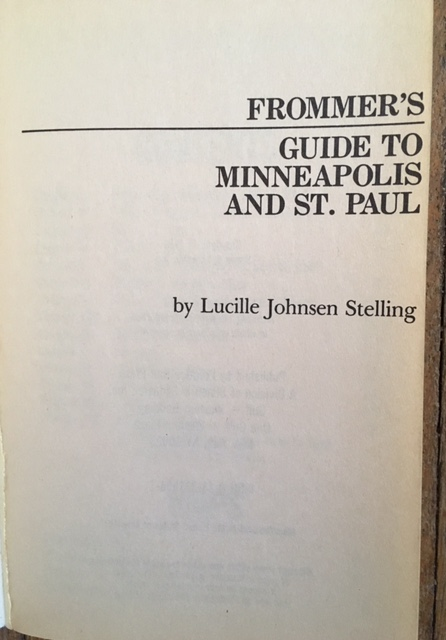Twin Cities guide title page